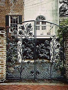 Savannah Wrought Iron Gate,