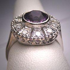 Antique Rose De France Amethyst Diamond by AawsombleiJewelry