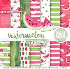 https://www.etsy.com/mx/listing/524151398/papel-digital-fondos-sandia-rosa-fiuscha #watercolor #watermelon #summer #poolparty #fruits #dots #beachtime #sandia #anguria #frutas