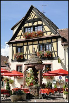 Kientzheim, Alsace, France. I'd sit here with a glass of wine.