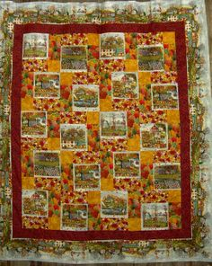 Panels are from Diane Phalen's Autumn Collection.  The pattern is a disappearing 9-patch bordered with a stripe from the collection.  The pattern is available if you contact me but it isn't on line.