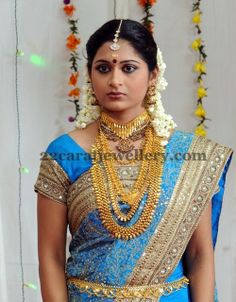 Jewellery Designs: Bride with Kerala Gold Jewellery