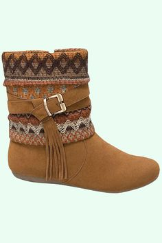 Aztec Print Booties shopmodmint.com