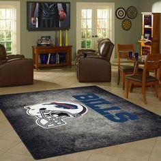 Buffalo Bills Rug Team Distressed