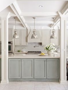 Kitchen Grey Cabinets Green Walls Design, Pictures, Remodel, Decor and Ideas - page 9