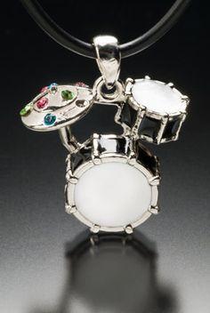 Drum Set Pendant_023 por thesilverman en Etsy