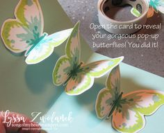 Triple Butterfly Pop Up Card tutorial Lyssa Stampin Up technique rubber stamping cardmaking ideas
