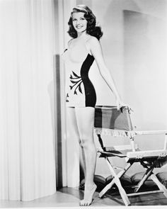 Rita Hayworth, that's a great looking swim suit