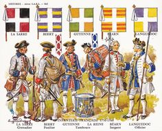 SYW- France: Historex Card 862 French Infantry 1750 - 1760, by Eugène Leliepvre.
