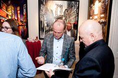 Paul Kenton signs exhibition catalogue for a fan Paul Kenton, Fan Art, London, Signs, Shop Signs, London England, Sign