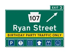 Have a little one who loves street signs, cars, and trucks? Then these double-sided custom party invitations are perfect!  ($30 for a set of 10 in my online store)