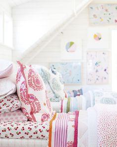 Play with pattern   Image via Serena & Lily Westport Design Shop