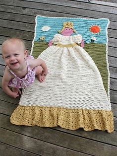 Crochet Princess Quilt afghan pattern