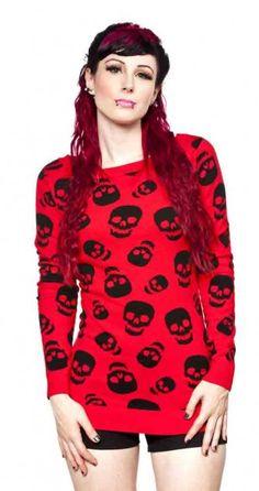 Lust For Skulls Sweater - Tops - Womens | Blame Betty