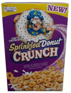 Cap'n Crunch's Sprinkled Donut Crunch Cereal