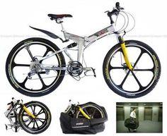 dual suspension folding bike