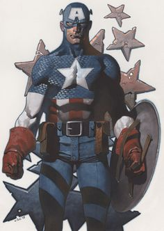 Captain America - colors by Christopher Stevens