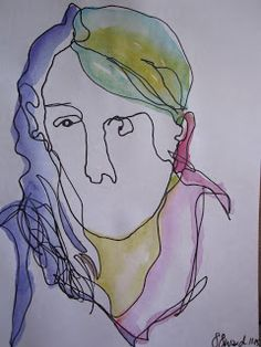 Suzabelle's Art Journal: blind contour drawings