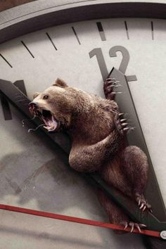 ♂ Stuck in time piece Masculine animals Painful, Bear, Bell, Clamped, Howl, Creative