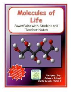 Updated Sumer 2015! 60 slides and 3 versions of differentiated notes will make teaching organic chemistry to your Biology students a breeze!