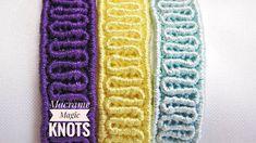 Macrame Bracelet Tutorial - Wavy Macrame Pattern EASY #MacrameBracelet #Tutorial #Wavybacelet #Easymacrame #DIY #Howtomakebracelet #Craft #Pattern #MacrameMagicKnots