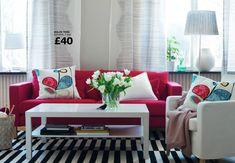 living room decorating ideas red sofa » Design and Ideas