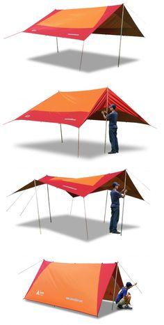 How to use a single tarp for shade