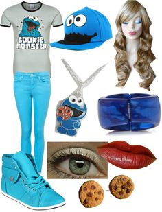 """""""Cookie Monster"""" by alxmill ❤ liked on Polyvore"""