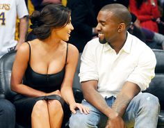 """Kim Kardashian and Kanye Wests Sweetest PDA Moments: Courtside Cuties.  """"Aren't they so in love with each other?.."""""""