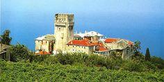Monastery of Karakallou in Athos Spiritual Enlightenment, 14th Century, World Heritage Sites, Places To Go, Macedonia Greece, Visit Greece, Explore, Greece Travel, Mansions