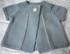 Pink cardigan has top-down raglan construction and is worked in one piece.Knitting is soft and pleasant to the touch. The cardigan no edges. Knitted Baby Cardigan, Knit Baby Sweaters, Cardigan Pattern, Knitting For Kids, Baby Knitting Patterns, Baby Patterns, Baby Bolero, Baby Dress, Baby Outfits