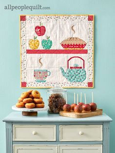 Have you seen the new Quilts and More magazine? It is full of fun projects including my Fall mini Quilt. I used Farm Girl Vintage fabric in Autumn colors. Small Quilt Projects, Quilting Projects, Quilting Designs, Kitchen Quilting Ideas, Fun Projects, Owl Quilts, Applique Quilts, Small Quilts, Mini Quilts