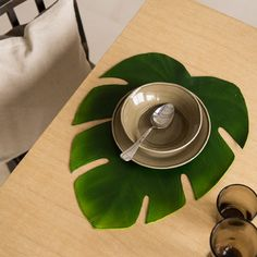 PALM LEAF PLACEMAT - Placemats - Tableware   Zara Home Turkey