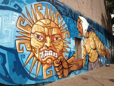 """The best of La Boca, Buenos Aires, Argentina.  Street art in this once gritty neighborhood tells the story of their immigrant past (it's the founding neighborhood of Tango), and their soccer loving present (home of the infamous """"Boca Juniors""""!)"""