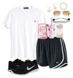 """""""Lily Pulitzer"""" by olemissgirl-hottytoddy ❤ liked on Polyvore featuring Ralph Lauren, NIKE, Lilly Pulitzer, Ray-Ban and Kendra Scott"""