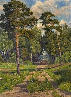 THE FOREST TRAIL By Peder Mork Monsted ,1916