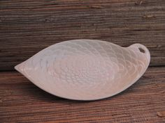 White Floral Pattern Leaf Dish Berkeley Erphila Made In Germany by RedoneAndVintage on Etsy