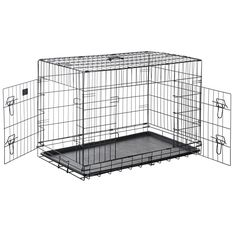 Pet Trex 2304 PT2304 48 Inch Pet Crate Folding Pet Crate Kennel for Dogs, Cats or Rabbits, 48' ** Unbelievable dog item right here! : Dog cages