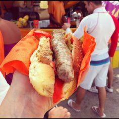 Roadside hot dog in Favignana, Egadi Islands. Sicily.  Apples Under My Bed: Let's just stay here, OK?