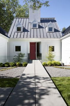 White Exterior Design, Pictures, Remodel, Decor and Ideas - page 17