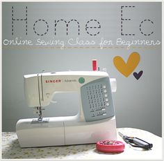 online sewing class for beginners! @Sara Denning - Maybe this could help!  (I'm gonna check it out myself!)