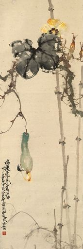 """Insect and Flowers"" painting scroll: Zhao Shao'ang"