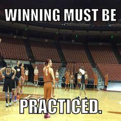 Winning must be practiced. #ltt