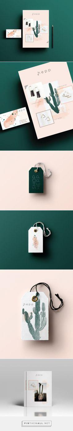 Hepp Branding by West End Girl Studio Collateral Design, Brand Identity Design, Branding Design, Business Branding, Branding Agency, Communication Design, Fashion Branding, Graphic Design Inspiration, Visual Identity