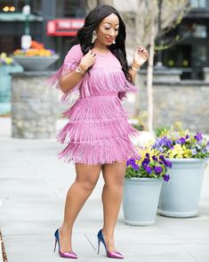Pink Tassels Mini O-Neck Short Sleeve Bandage Pencil Dress Ootd Fashion, Girl Fashion, Fashion Outfits, Womens Fashion, Sexy Dresses, Evening Dresses, Short Sleeve Dresses, African Attire, African Fashion Dresses
