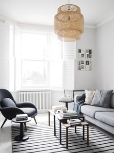 Light Scandi inspired living room with monochrome touches. Fredericia furniture: The Modern Originals of tomorrow Scandi Living Room, Living Room Grey, Living Room Interior, Living Room Decor, Living Rooms, Nordic Living, Living Spaces, Contemporary Living Room Furniture, Modern Furniture