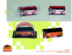 Buses miniatura personalizados.  Made in Spain.  GUISVAL. DIE CAST