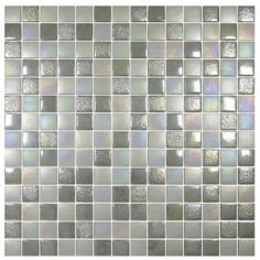 Silver Grey Mosaic Tiles from Walls and Floors