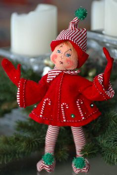 Annalee Dolls ~ Christmas Elf  -I love their Elf's! I have one like this.