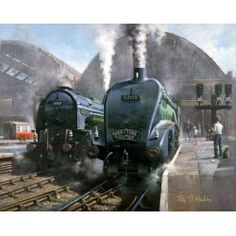 Pacific Parade by Philip D Hawkins Steam Locomotive, Trains, Paintings, Artist, Paint, Painting Art, Artists, Painting, Painted Canvas